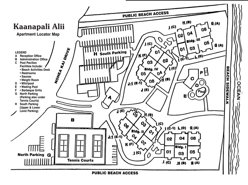 kaanapali alii map maui real estate